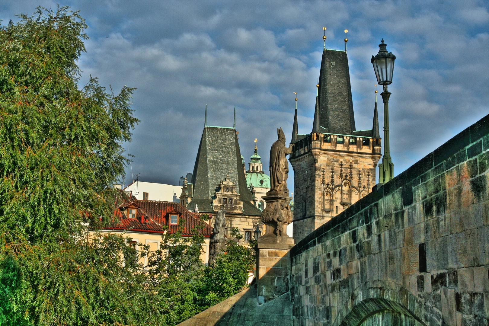 Puente de Carlos en Praga desde Malastrana.