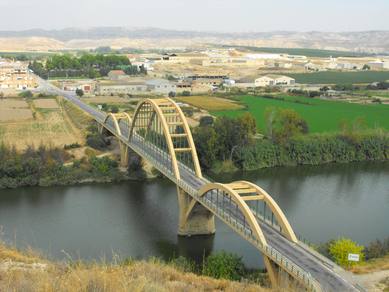 Puente sobre el Ebro en Sastago
