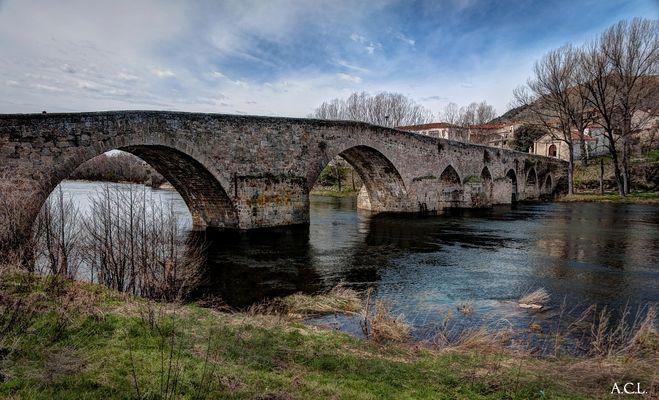 Puente sobre el rio Tormes