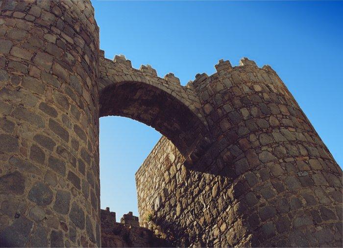Puerta de San Vicente, Avila, Castilla y Leon, Juli 2001