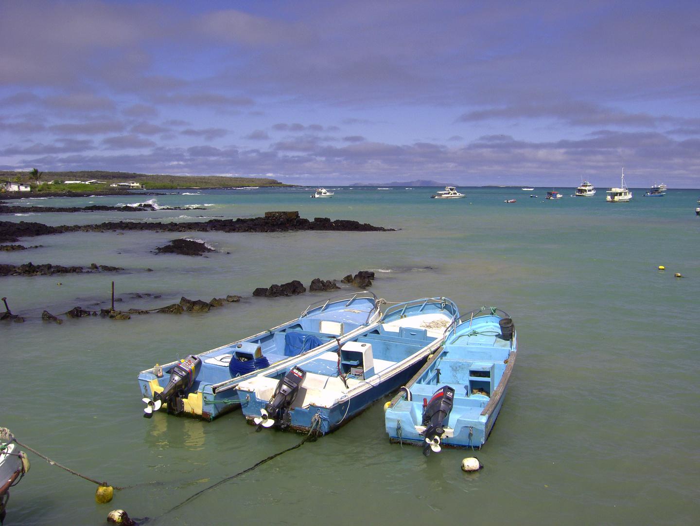 Puerto Ayora kleiner Hafen