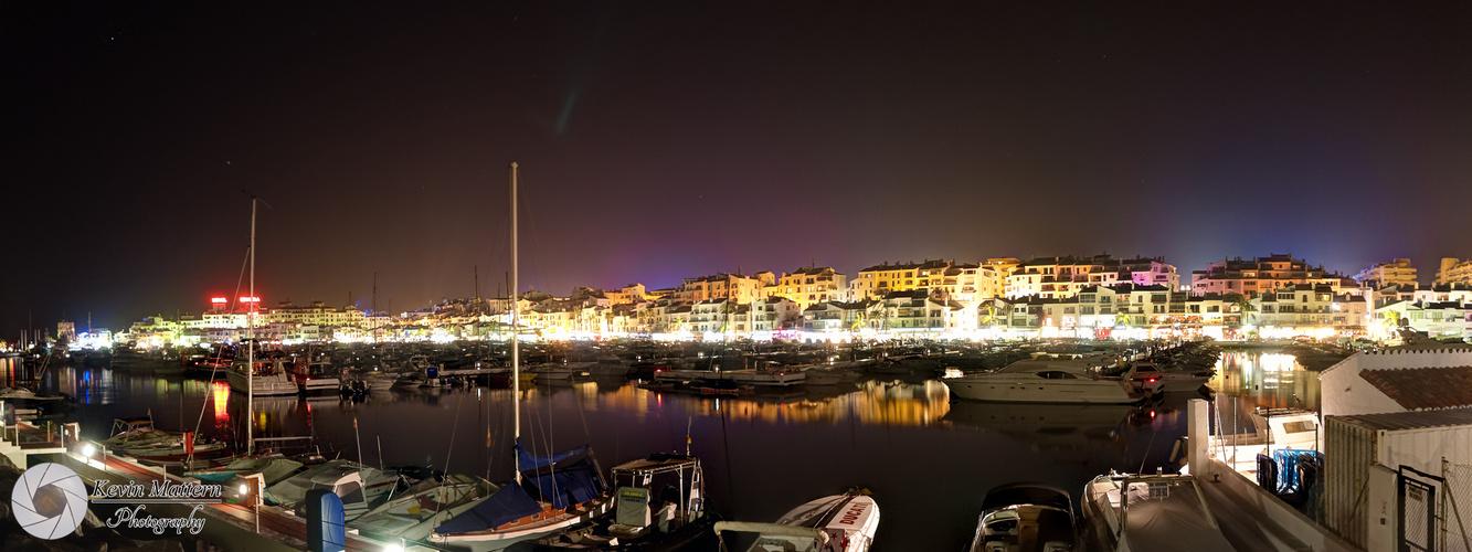 Puerto Banús - HDRI (Nachtpanorama)