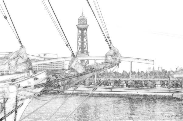Puerto de Barcelona ( Puente del Maremagnum )
