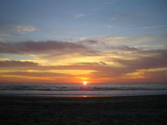 puerto escondio sunset
