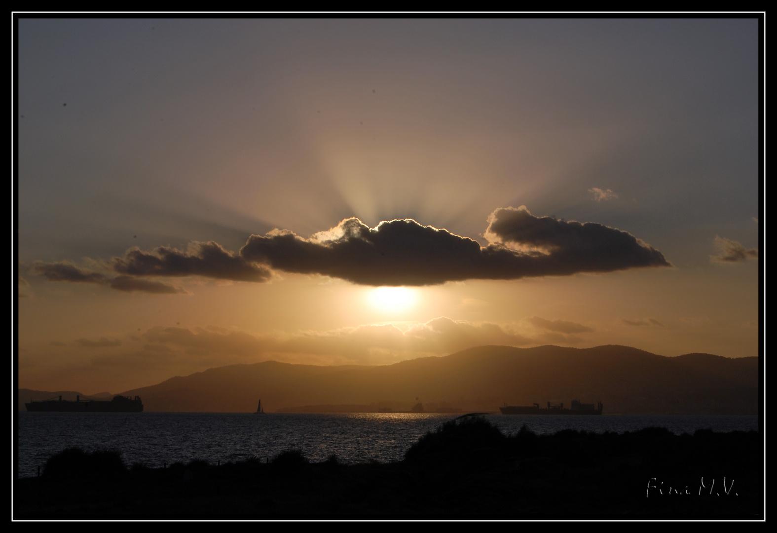 Puesta de sol desde Es Carnatje