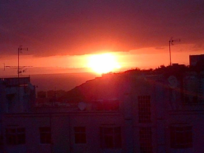 Puesta de Sol desde la ciudad