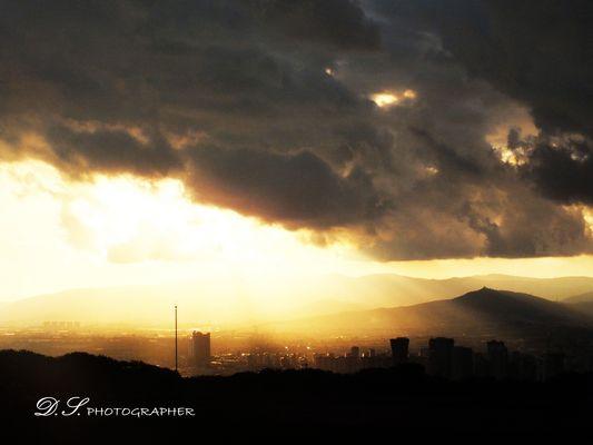 Puesta de sol en Barcelona (1)