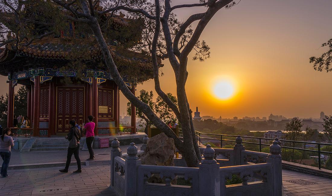 Puesta de sol en Beijing