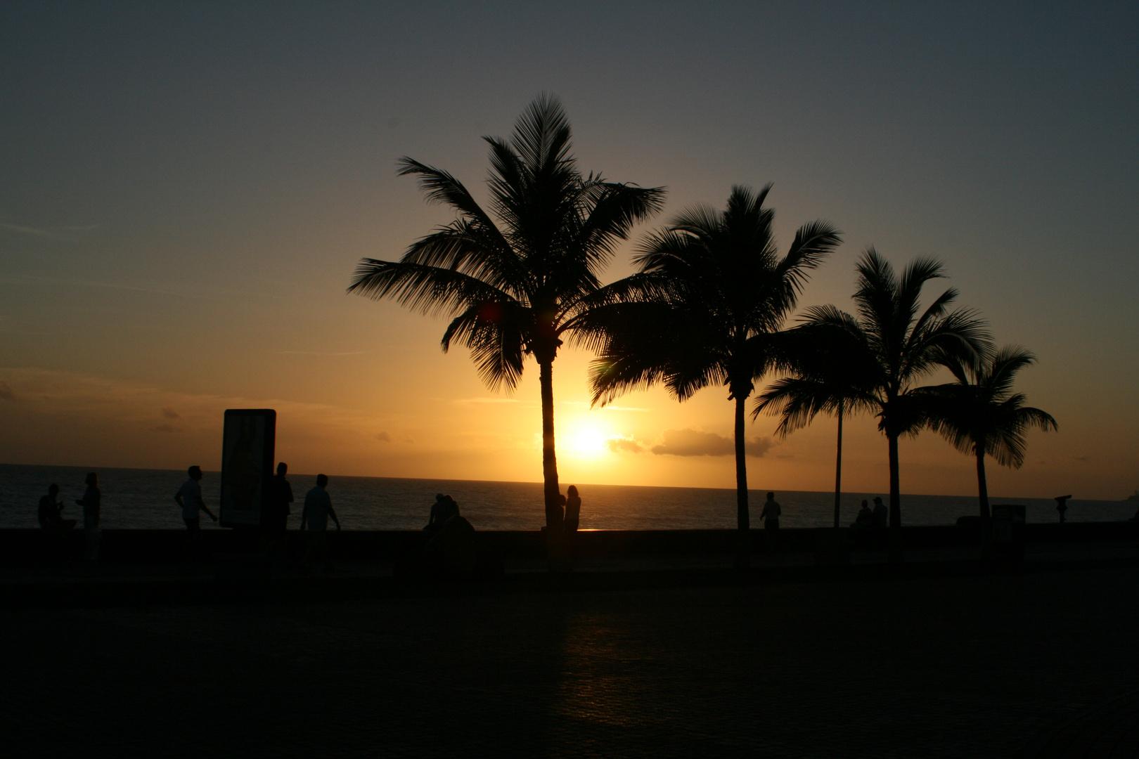 Puesta de sol en Canarias