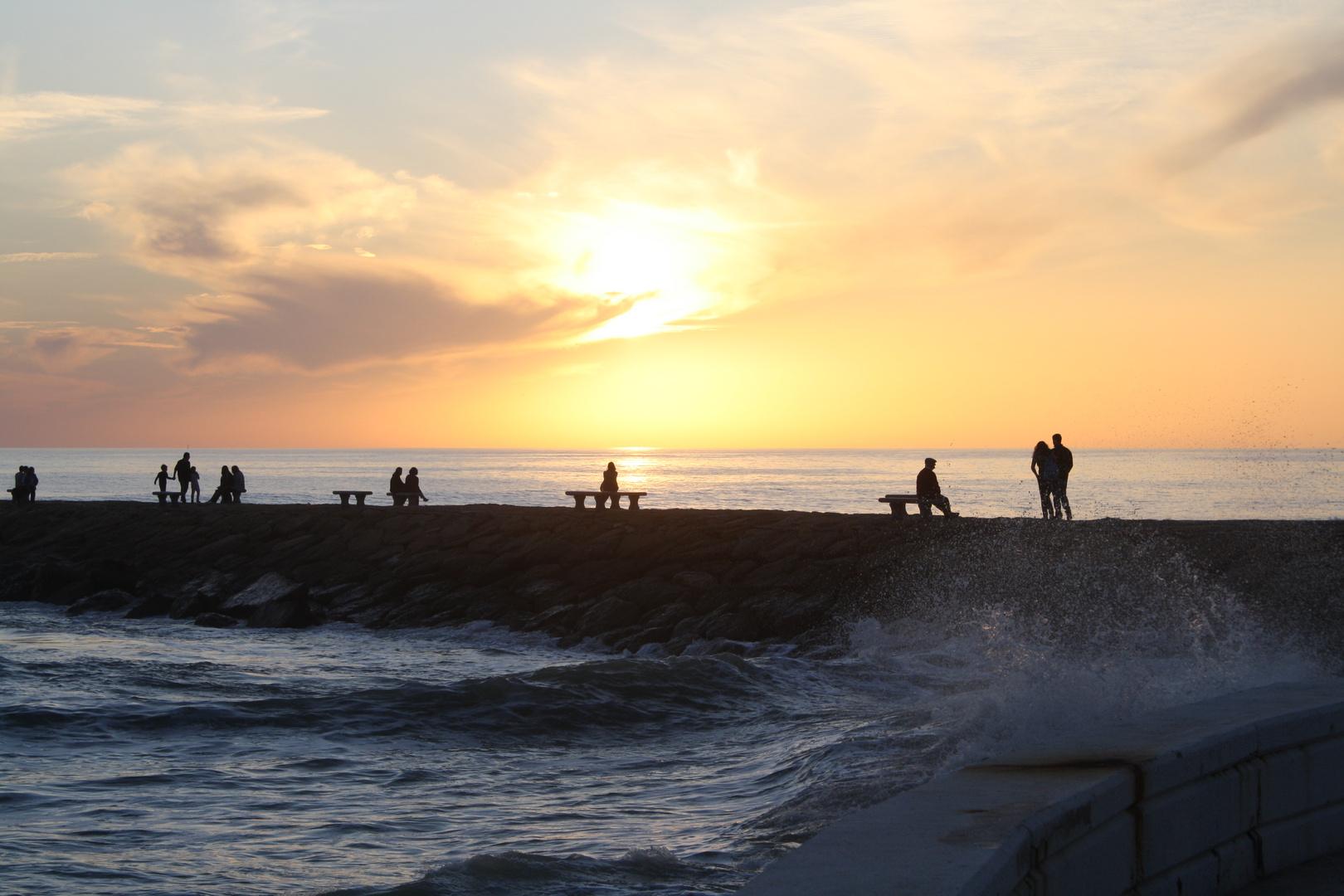 Puesta de sol en Rota (Cádiz)
