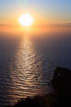 Puesta de sol en Sa Foradada