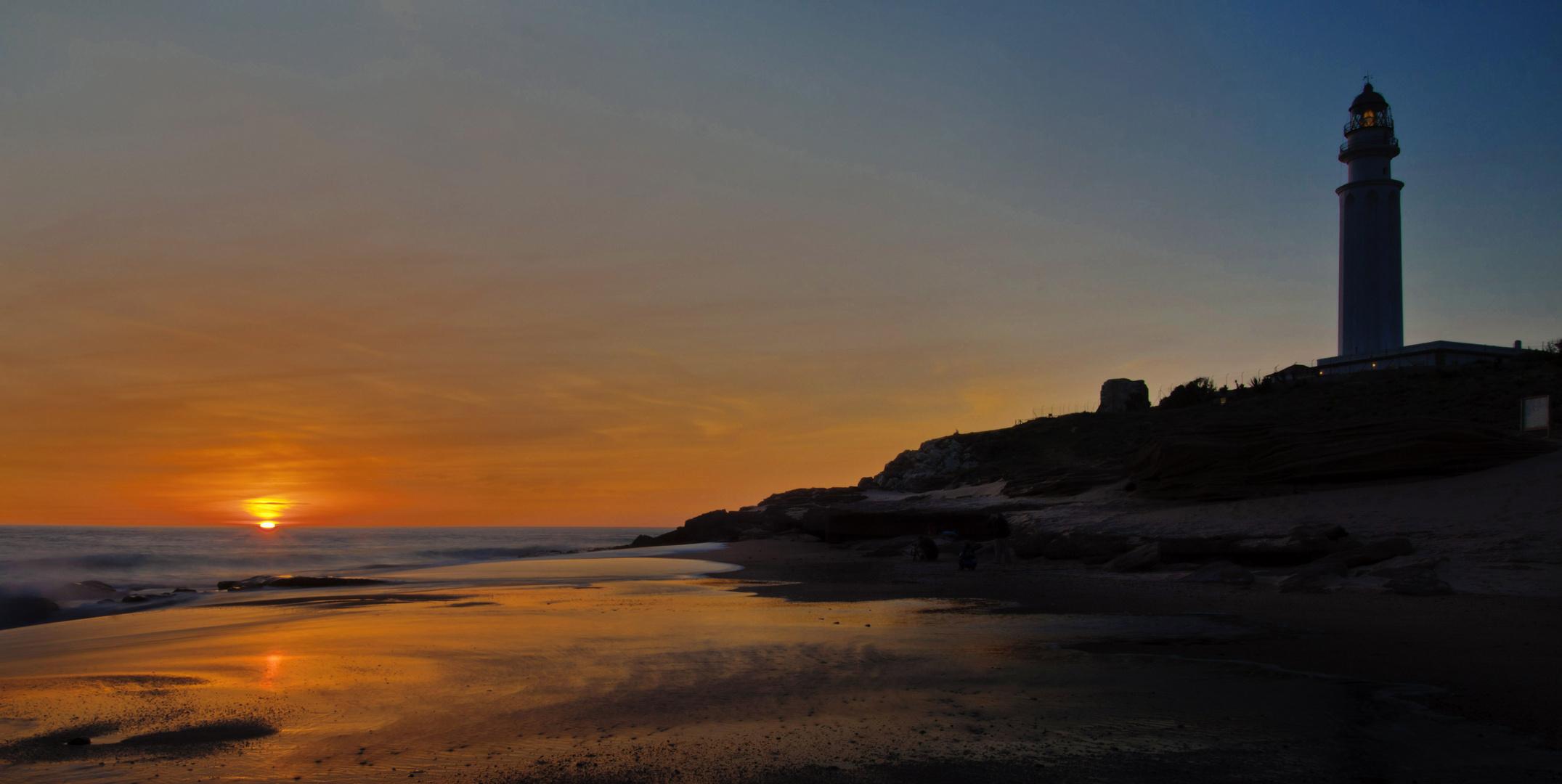 Puesta de sol en Trafalgar