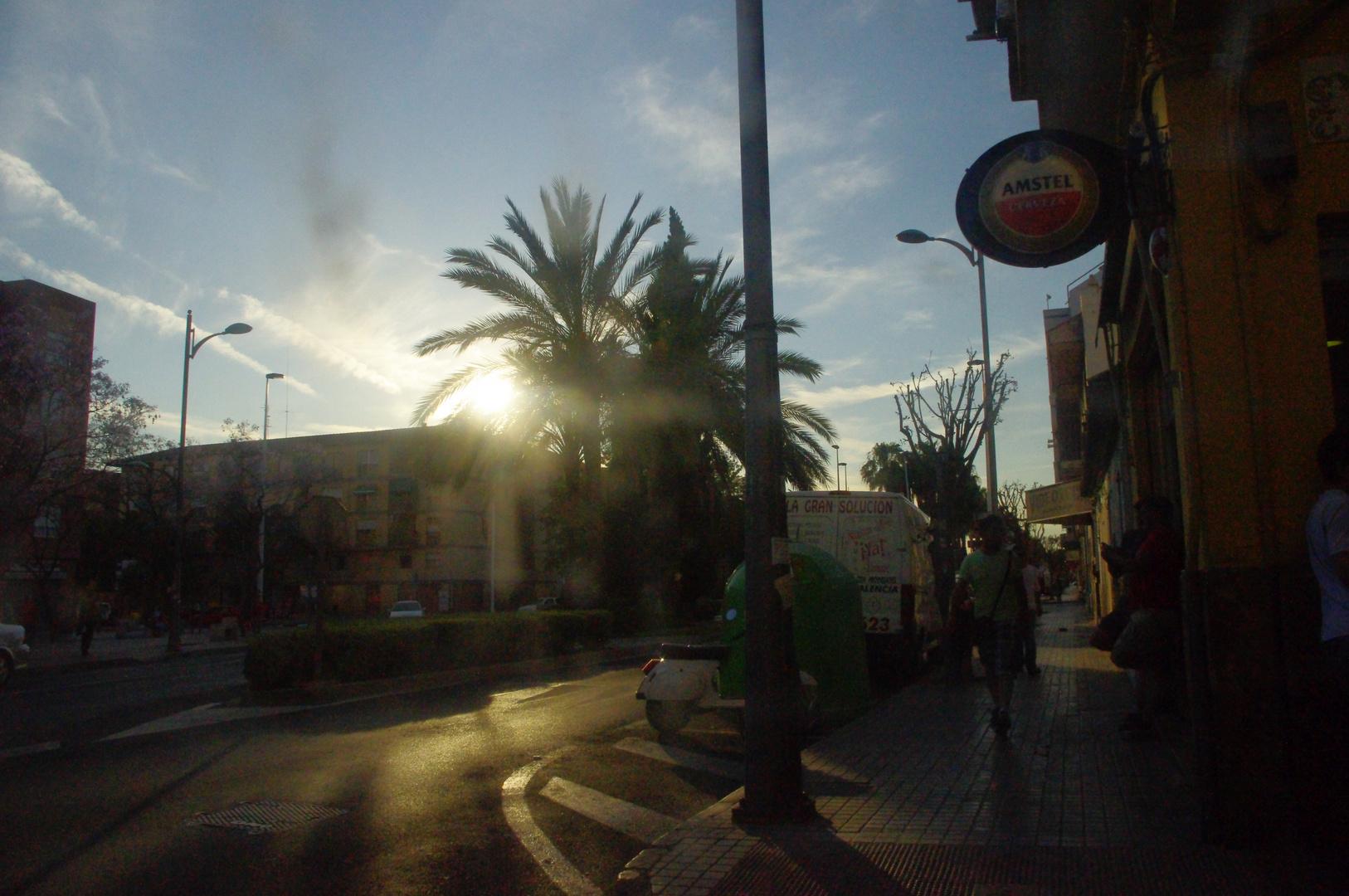 Puesta de sol urbana