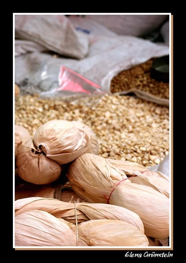 Puesto en el mercado de Tepoztlan