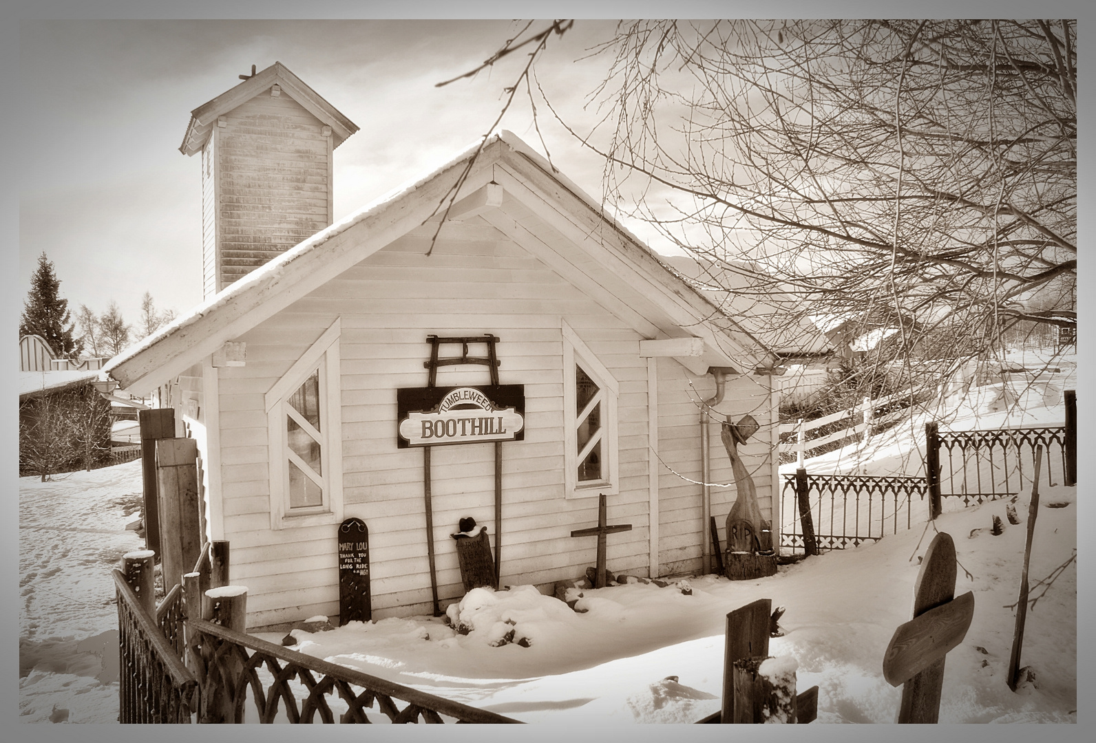 Pullman City - snow-covered boothill