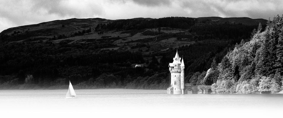 Pumping station on Lake Vyrnwy,Wales.