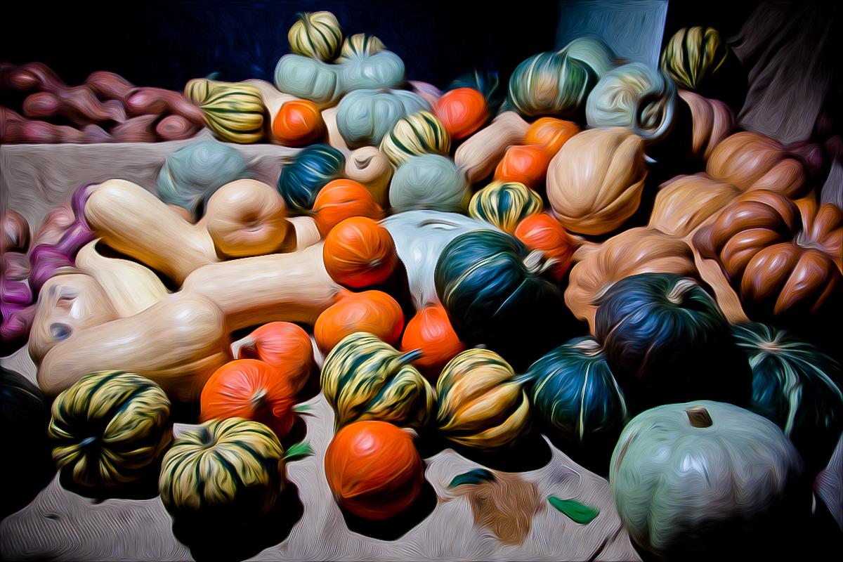 Pumpkins pixel-bent @Borough Market