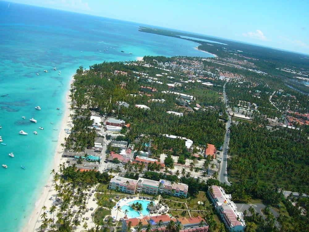 Punta Cana mal von oben...
