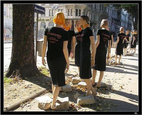 Puppen in der Wiener Innenstadt