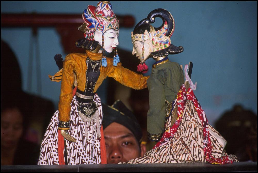 Puppenspieler auf Bali