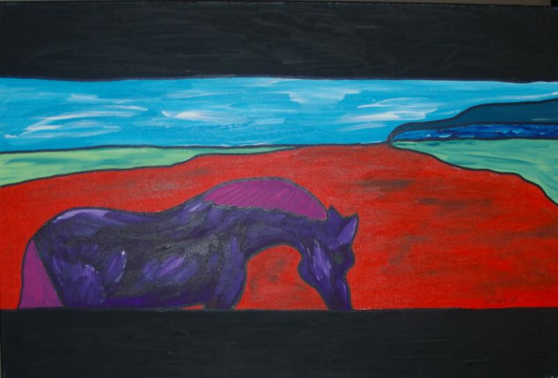 purple horse II
