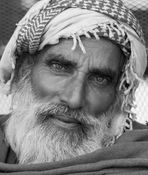 Pushkar camel fair bw