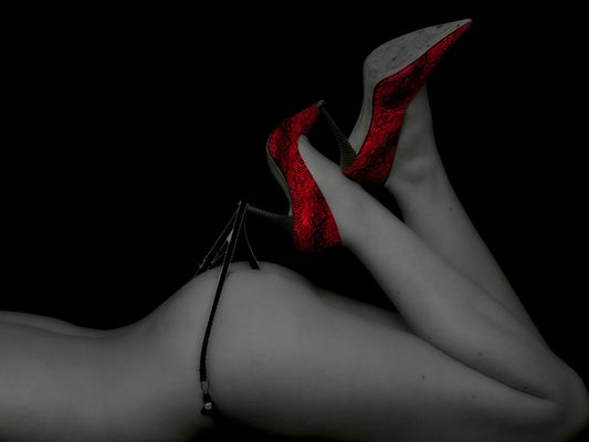 Put on the red shoes...