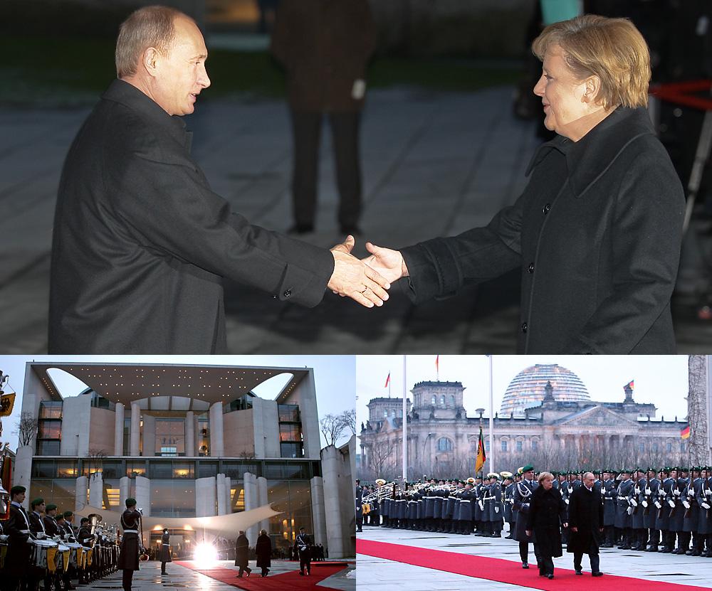 Putin bei Merkel