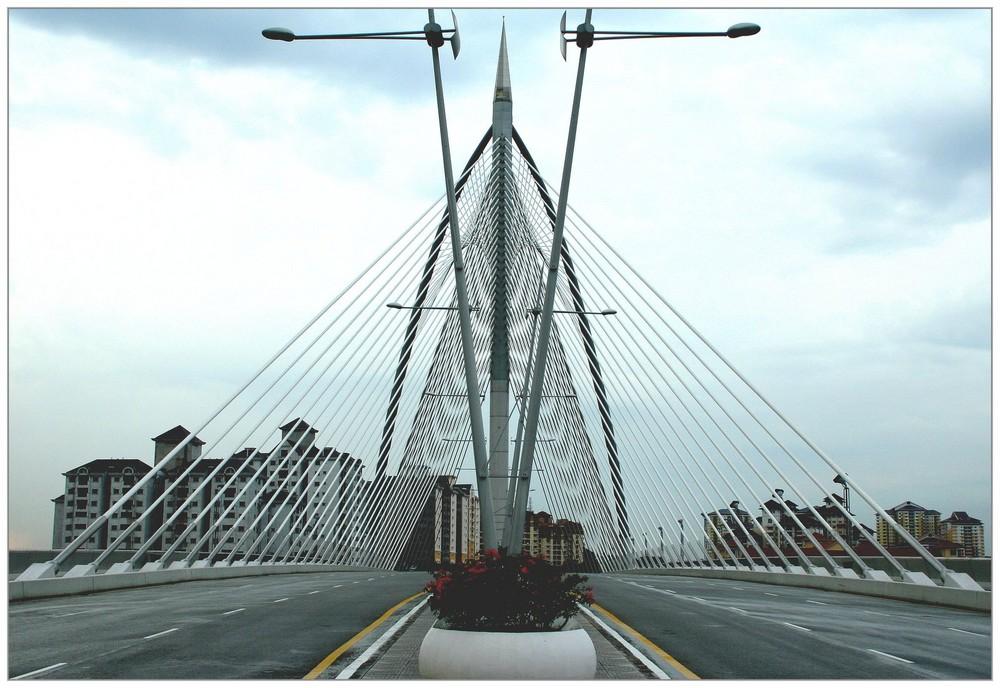 Putrajaya Bridge in Kuala Lumpur