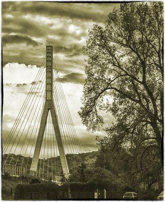 Pylon der Elbquerung bei Niederwartha