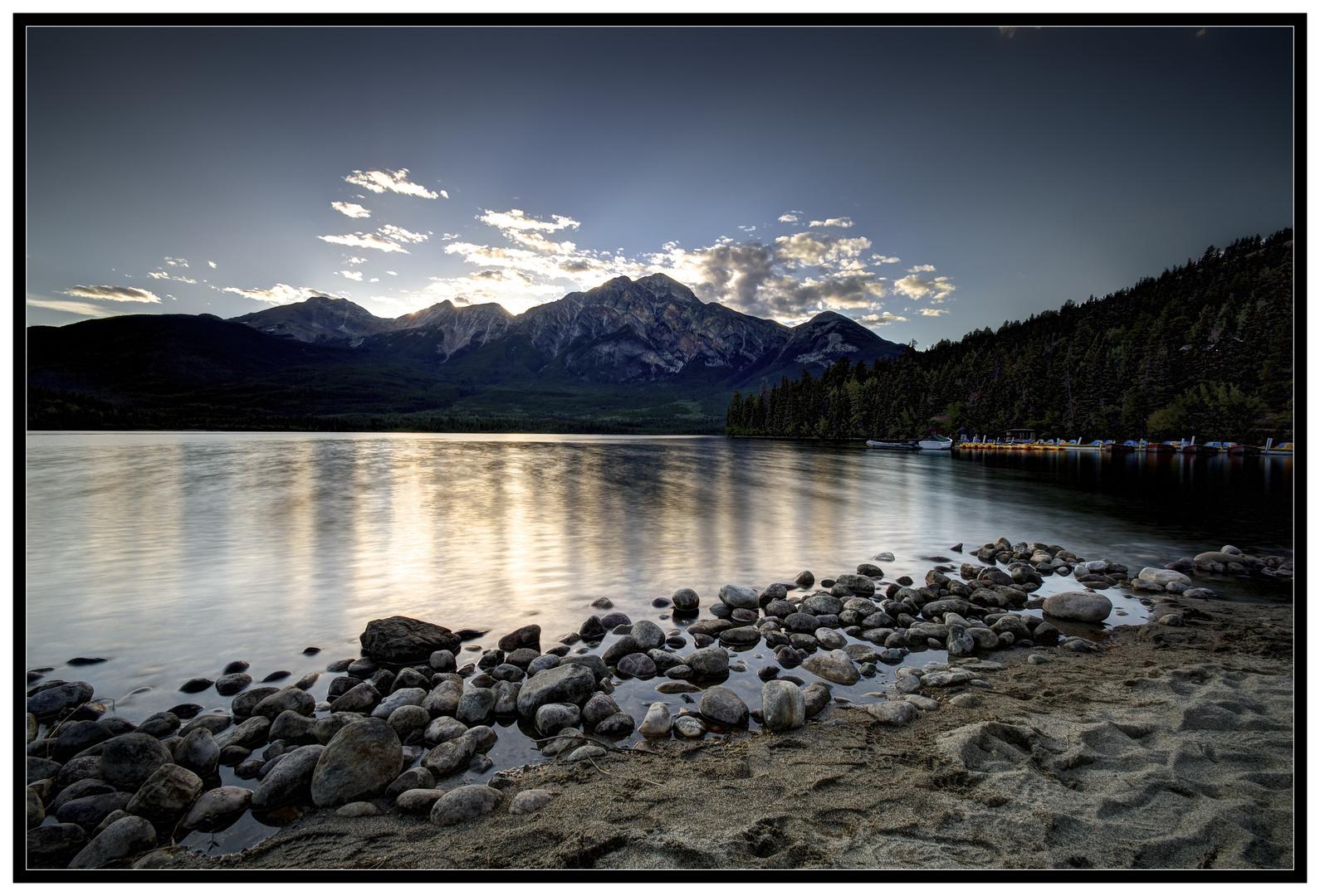 Pyramid Lake nach Sonnenuntergang
