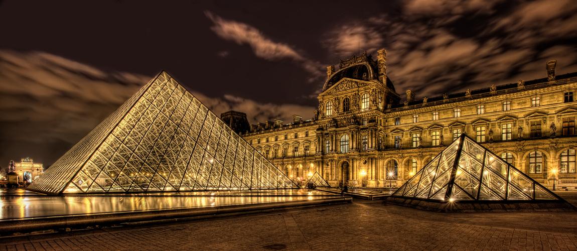 Pyramide du louvre foto bild europe france paris bilder auf fotocom - Inauguration pyramide louvre ...