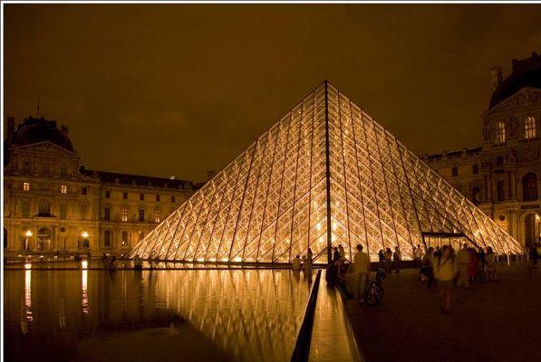 Pyramide vor dem Louvre