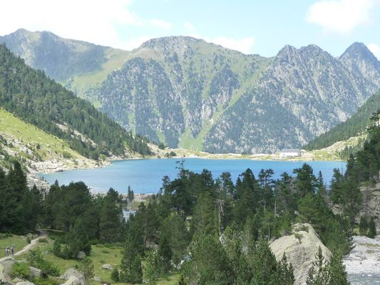 Pyrénées françaises-Au dessus de Cauterets Pont d'Espagne-lac de Gaube