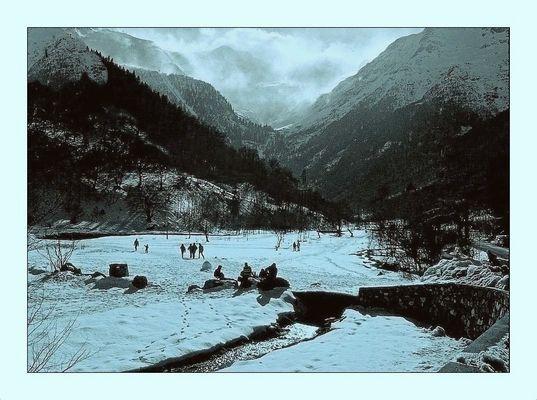 Pyrénées sous la neige