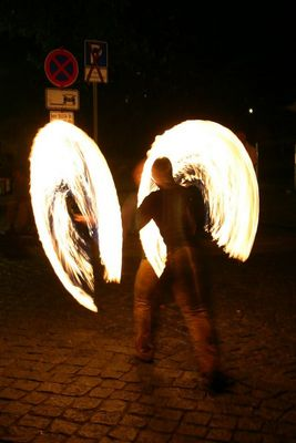 Pyromaniker beim Stadtfest Dresden 2004