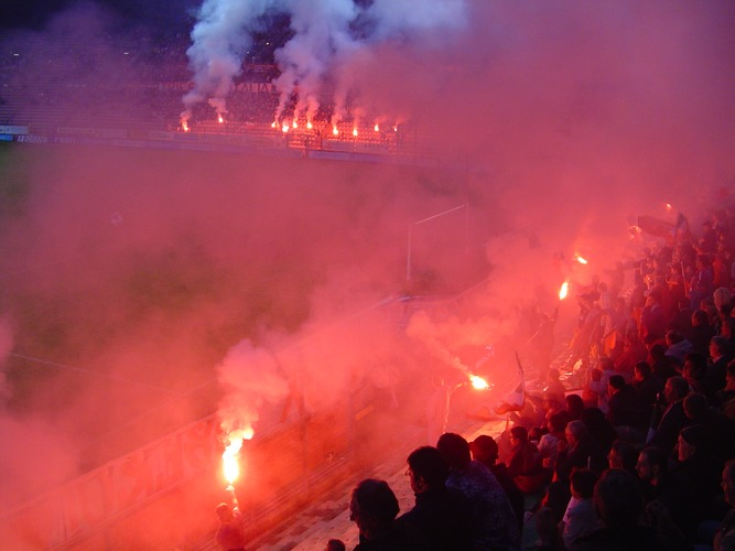 Pyroshow der Triestina