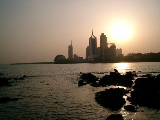 Qingdao at sunset