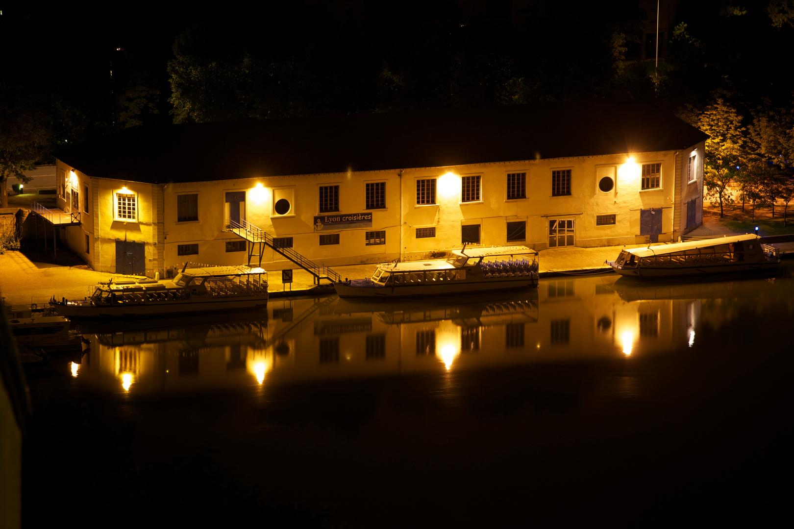 Quais de Saône nocturnes