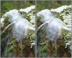 Qualle aus Eis 3D Kreuzblick