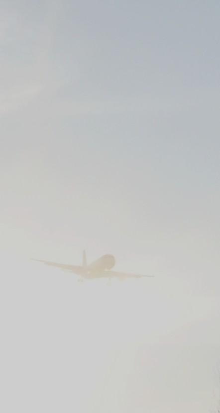 Quand L'avion sort du broulliard