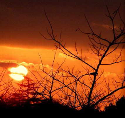 Quand le jour s'en va, quand le soleil se couche.