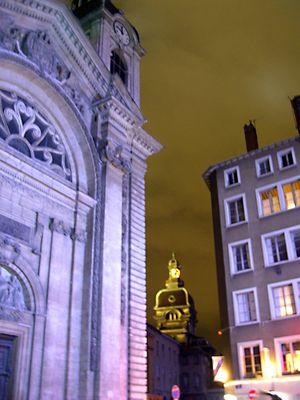 Quartier de nuit à Lyon