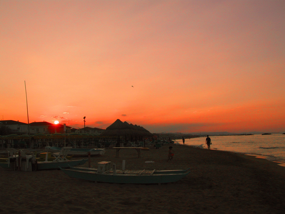 quattro passi al tramonto