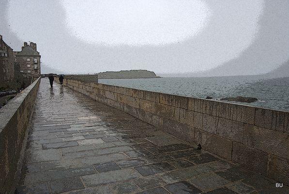 Quay in St-Malo. Again a rain.