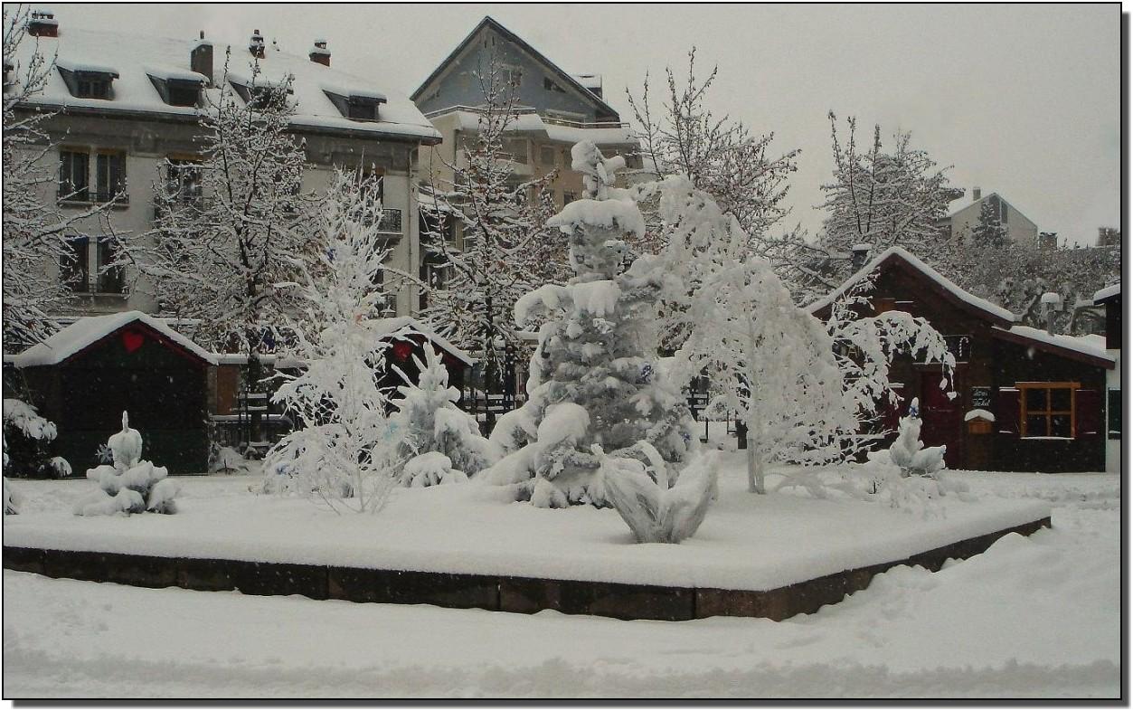 que c'est beau une ville sous la neige !!!