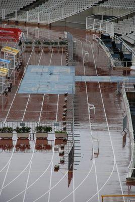 Que la course commence. Stade olympique  de Barcelone