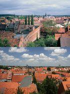 Quedlinburg Stadtansicht 2 1994 und 2014