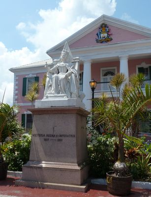 Queen Victoria at Government buildings Nassau Bahamas