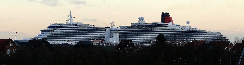 Queen Victoria auf der Elbe